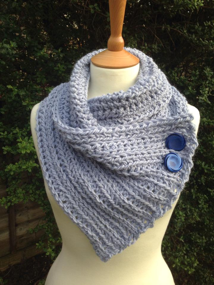 Snuggly Crochet Wrap Scarf- Re-made by Sam