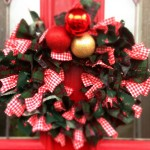 christmas festive rag wreath