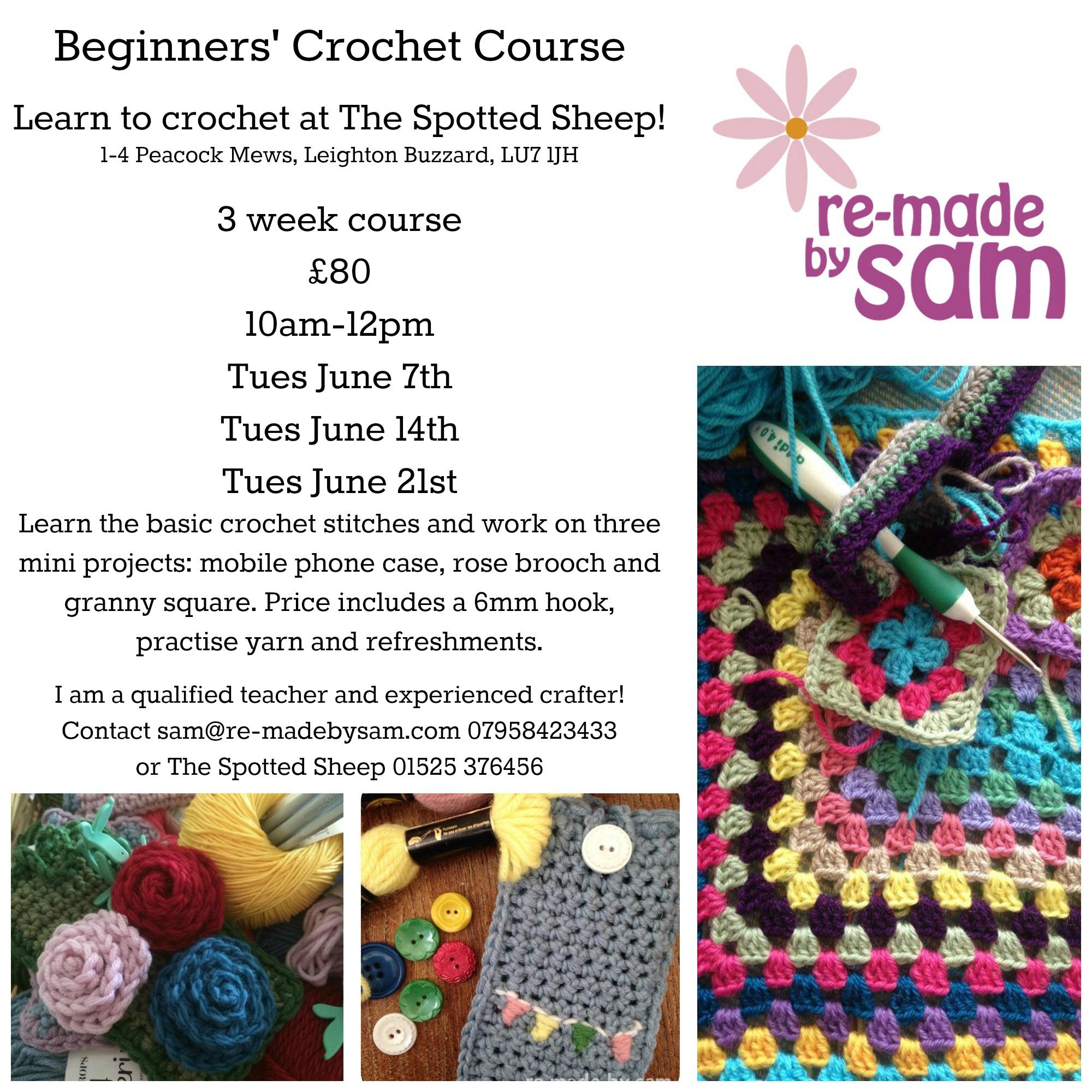 Beginners Crochet In Herts Beds Bucks