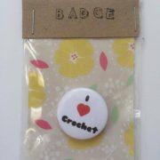 i love crochet badge