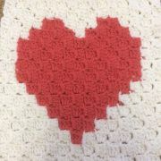 love heart corner to corner tapestry crochet