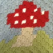 cute toadstool corner to corner tapestry crochet