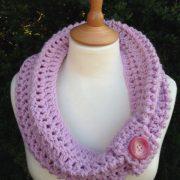 Vintage Crochet Button Cowl
