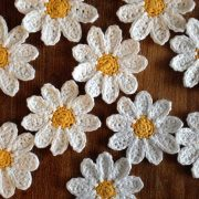 crochet your own daisy flower brooch kit re-made by sam