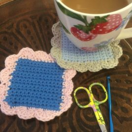 cute crochet coaster pattern re-made by sam