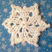 re-made by sam crochet snowflake decorations