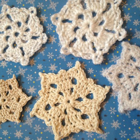 RE-made by Sam Crochet Snowflakes