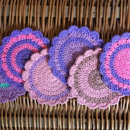 Re-made by Sam Stripey Coaster Crochet Kit