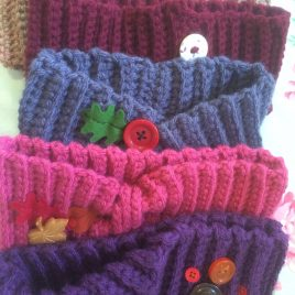 Re-made by Sam Cosy Crochet Headwarmers