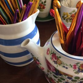 Buy colourful crochet hooks from Re-made by Sam