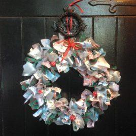 Re-made by Sam Halloween Rag Wreath Family Class