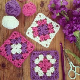Beginners Crochet Class granny squares