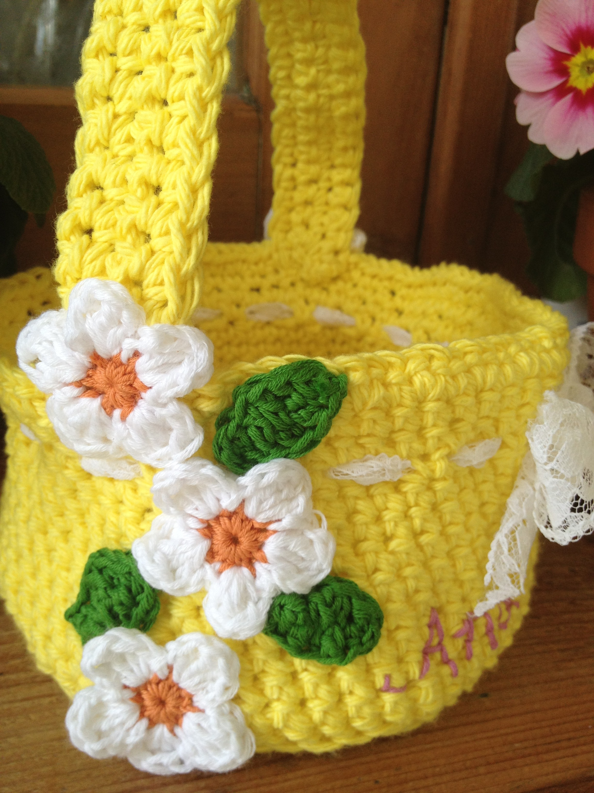 Crochet easter basket by re made by sam for Crochet crafts for kids