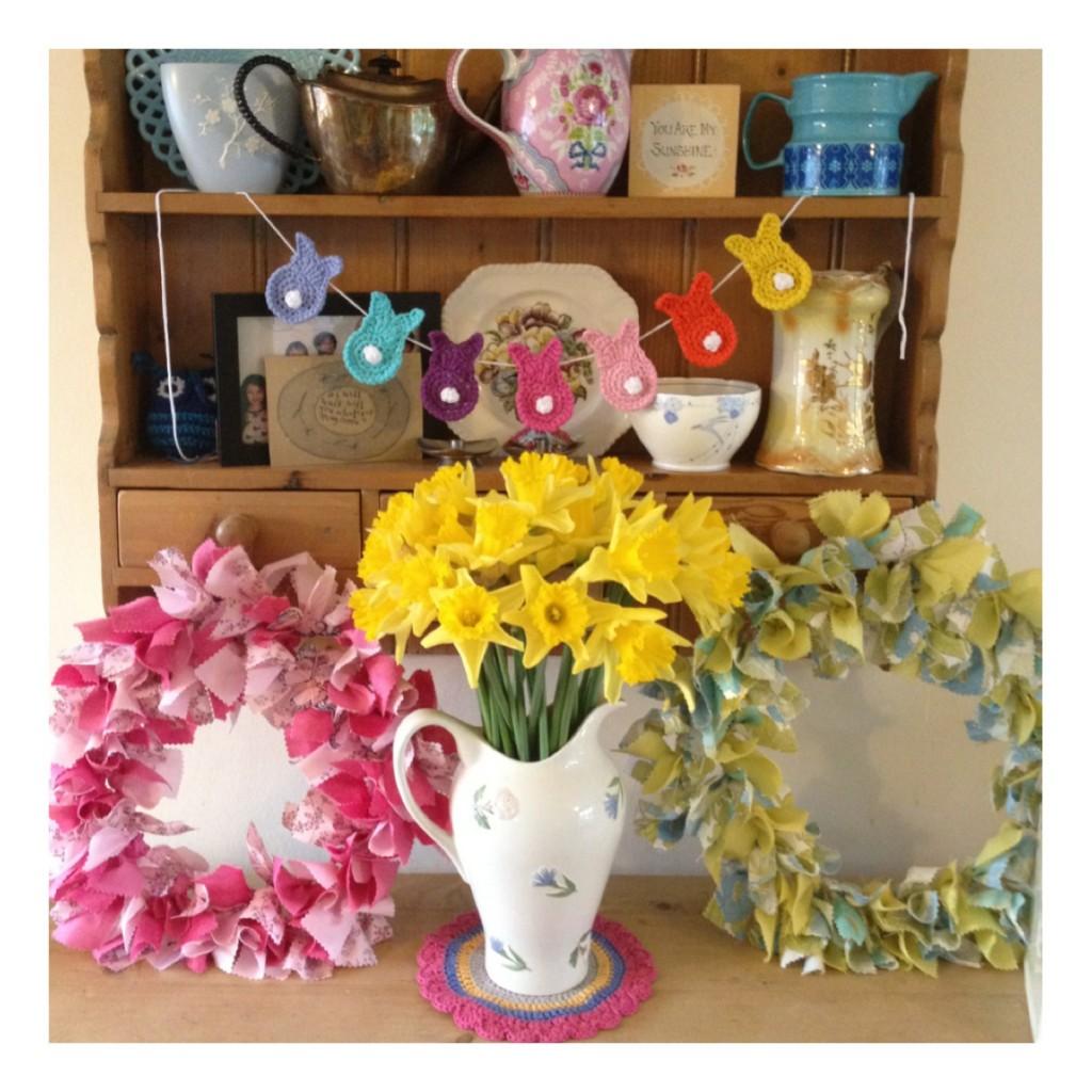 Spring wreath craft workshop Hertfordshire