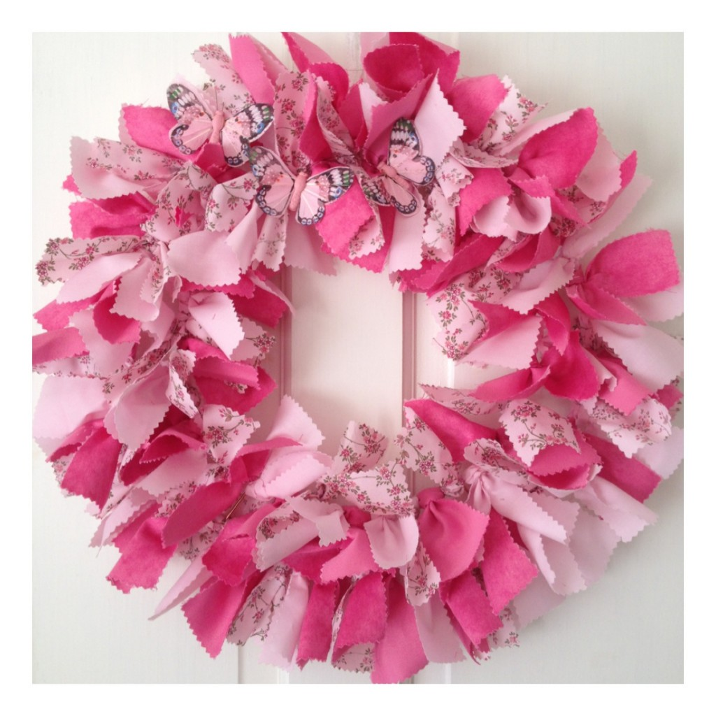 rag wreath Re-made by Sam