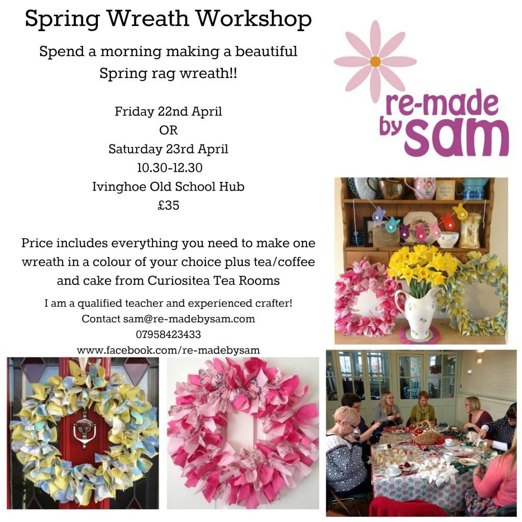 Wreath craft workshop hertfordshire