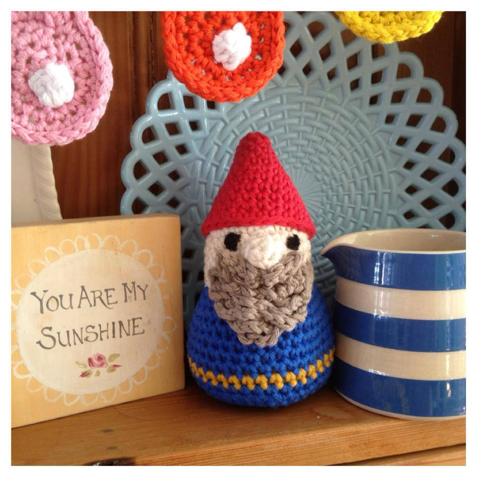 crochet gnome by Re-made by Sam