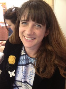 A lovely student modelling her gorgeous rose brooch!