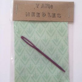 buy beautifully packaged yarn needles at Re-made by Sam