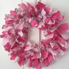 Easter rag wreath workshop in Tring