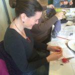 Ana enjoying crochet