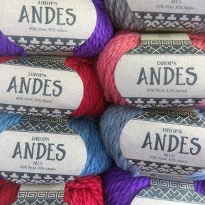 Vintage Crochet Cowl Wool Yarn