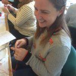 Sherrie enjoying a Re-made by Sam workshop