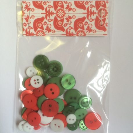 gorgeous festive buttons for your makes
