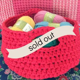 re-made by sam crochet basket workshop sold out