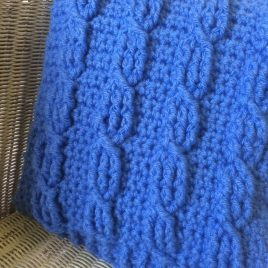 crochet cable cushion workshop tring ivinghoe herts - re-made by sam