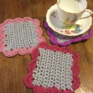 cute crochet coaster pattern re-made by sam