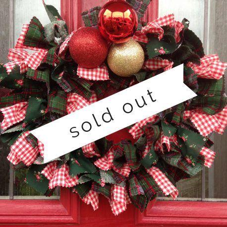 Christmas Rag Wreath Class Sold Out