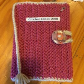 Red Crochet Book Cover with Tassle - re-made by Sam
