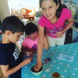 children enjoying craft activities