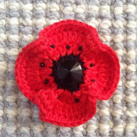 re-made by sam crochet poppy