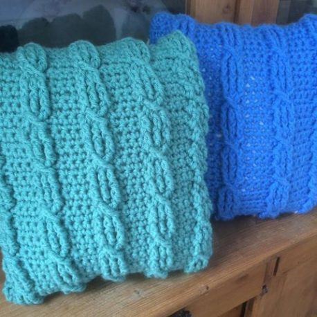 cable cushions crochet pattern
