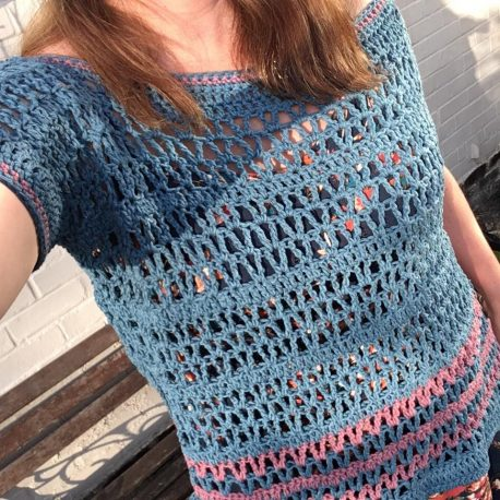 summer daze crochet poncho