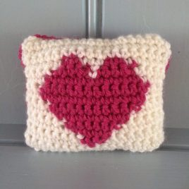 tapestry crochet cushion