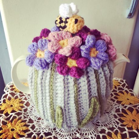 Crochet tea cosy Spring retreat day
