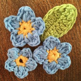 Forget-Me-Not Crochet Pattern
