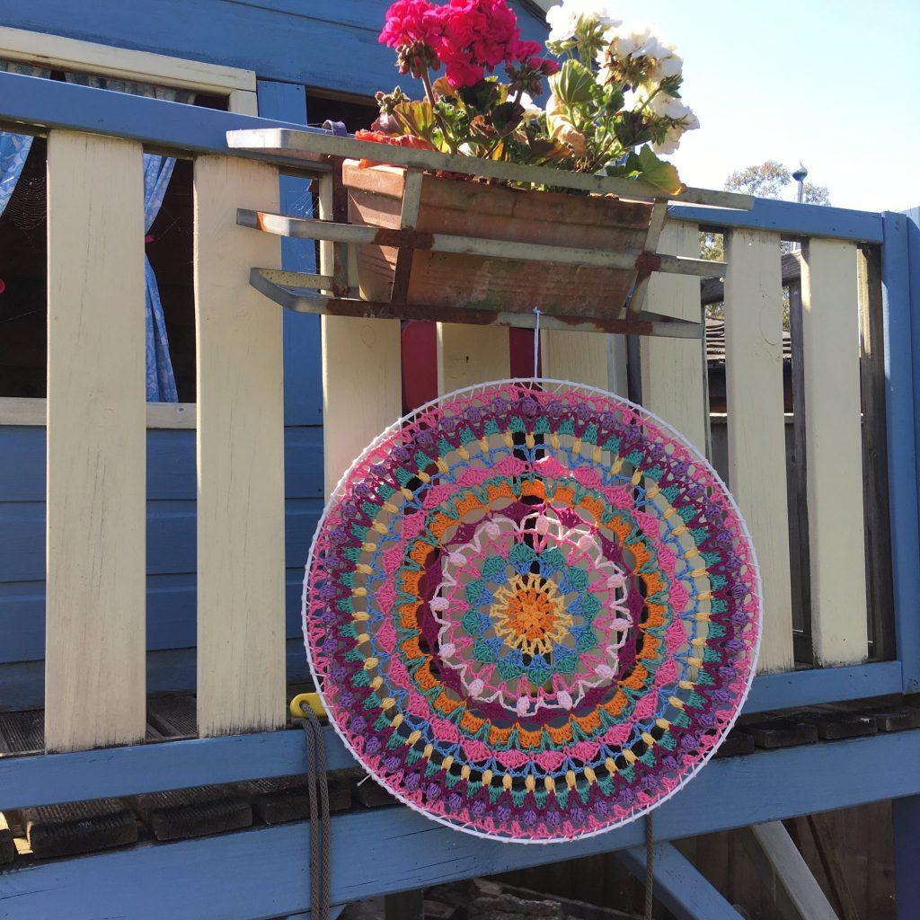 Project CALM    Summer Crochet Along Mandala - re-made by sam
