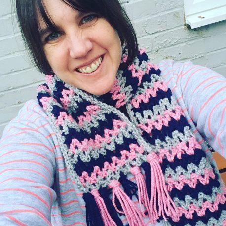 v stitch scarf 4